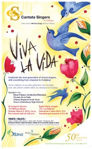 March 2, 2014 -  Cantata Singers of Ottawa