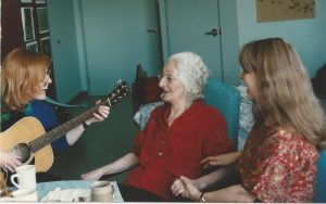 Music therapy groups can be formal or informal to support integration into a new facility, or provide a positive focus for family visits.