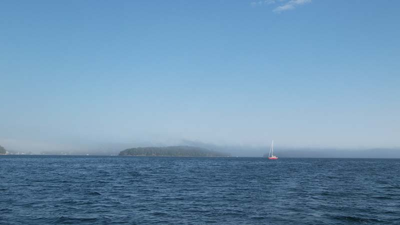 The fog overcame and swallowed the islands one by one: Tancook. Rafuse. Round. Birch. Clay.